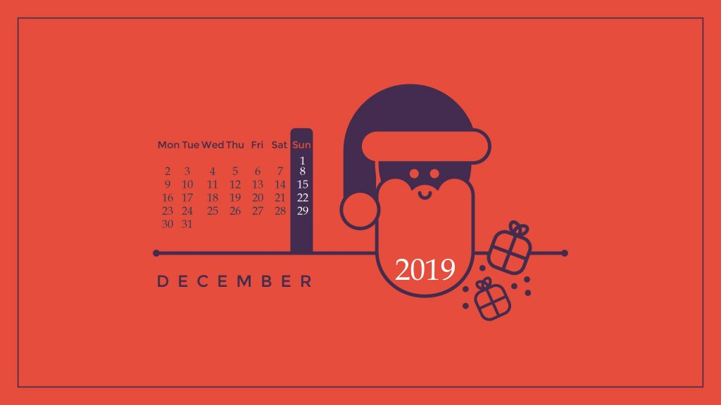 Cute Santa December 2019 Wallpaper
