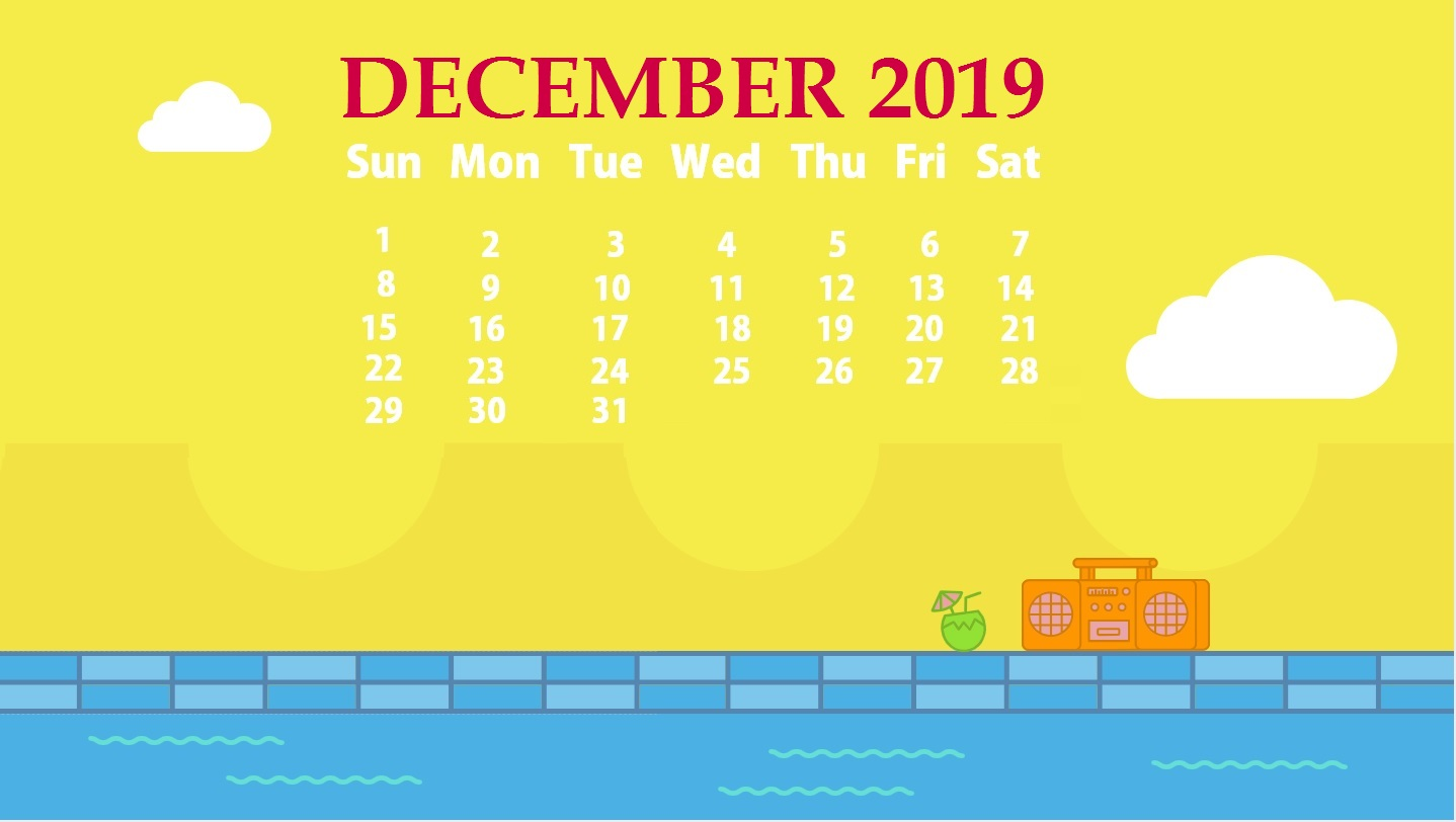 December 2019 Screensaver Background