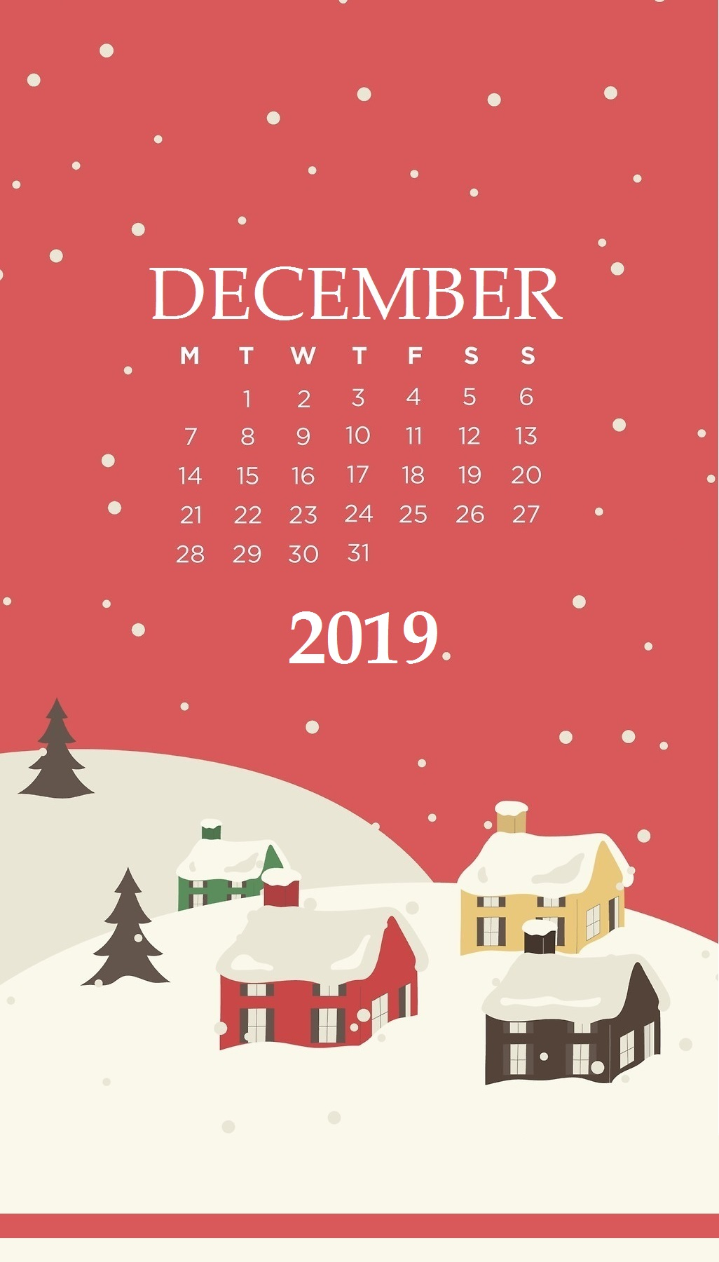 December 2019 Smartphone Wallpaper