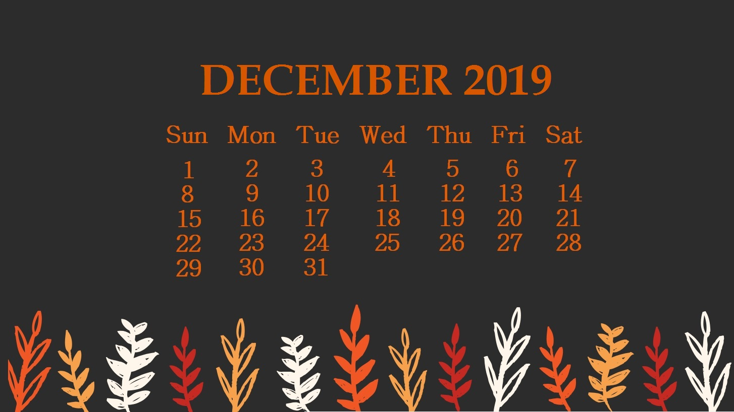 December 2019 Wallpaper Backgrounds
