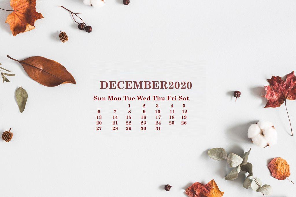 December 2020 Desktop Wallpaper Calendar
