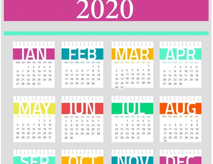 Decorative 2020 Calendar Design