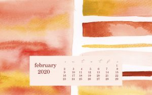 February 2020 Desktop Wallpaper calendar