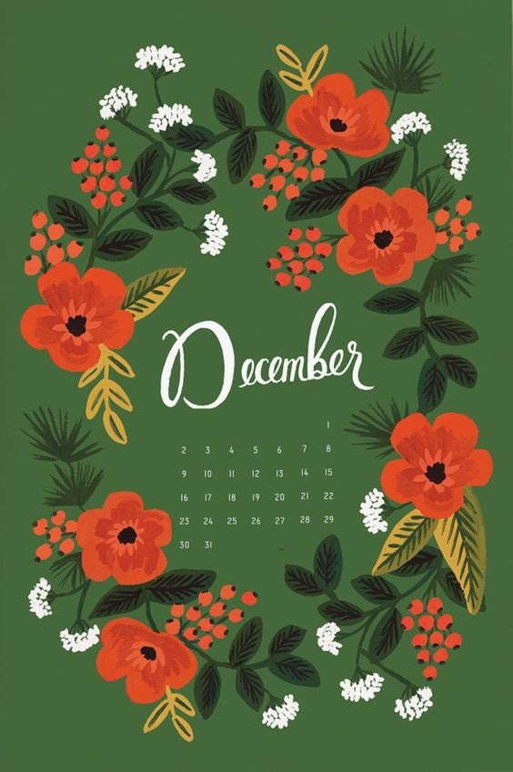 Floral December 2019 iPhone Wallpaper