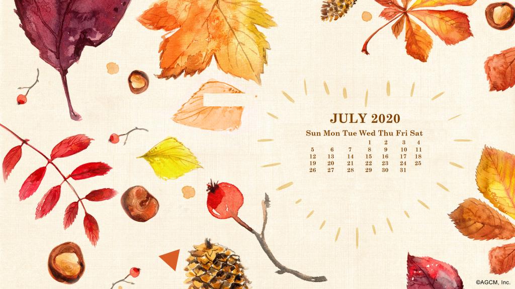 July 2020 Desktop Wallpaper Calendar