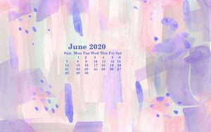 June 2020 Desktop wallpaper calendar