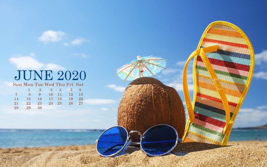 June 2020 HD Calendar Wallpaper