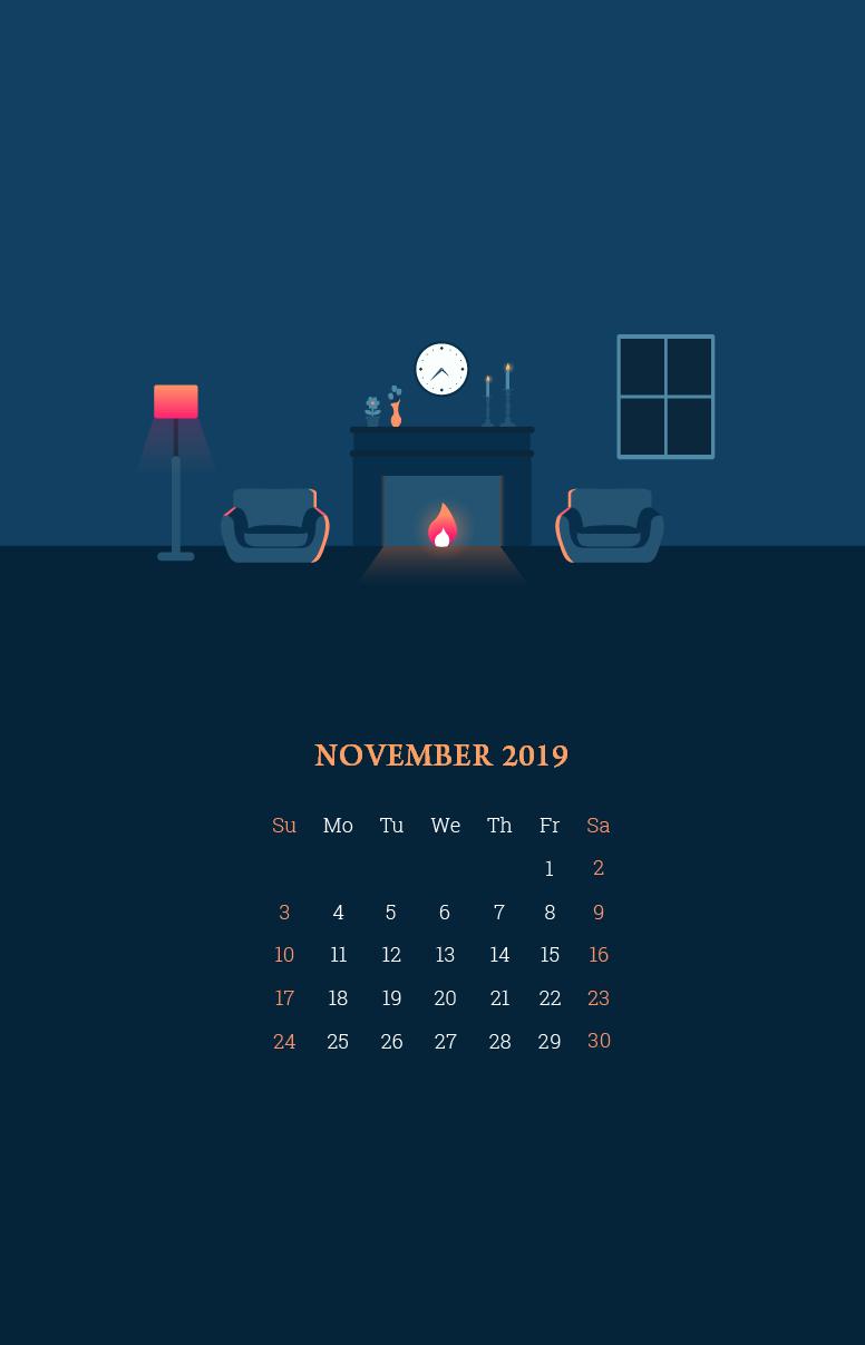 November 2019 Smartphone Wallpaper