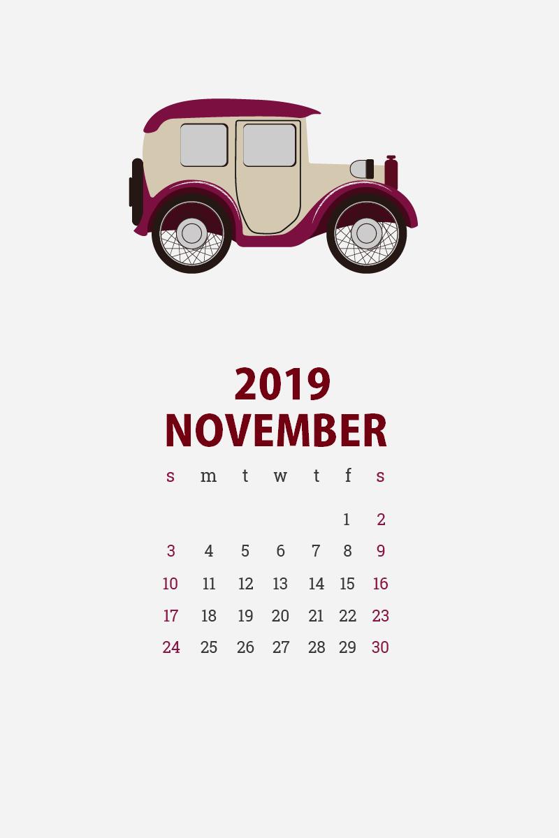 November 2019 iPhone Background