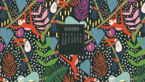 November 2020 Desktop Wallpaper Calendar