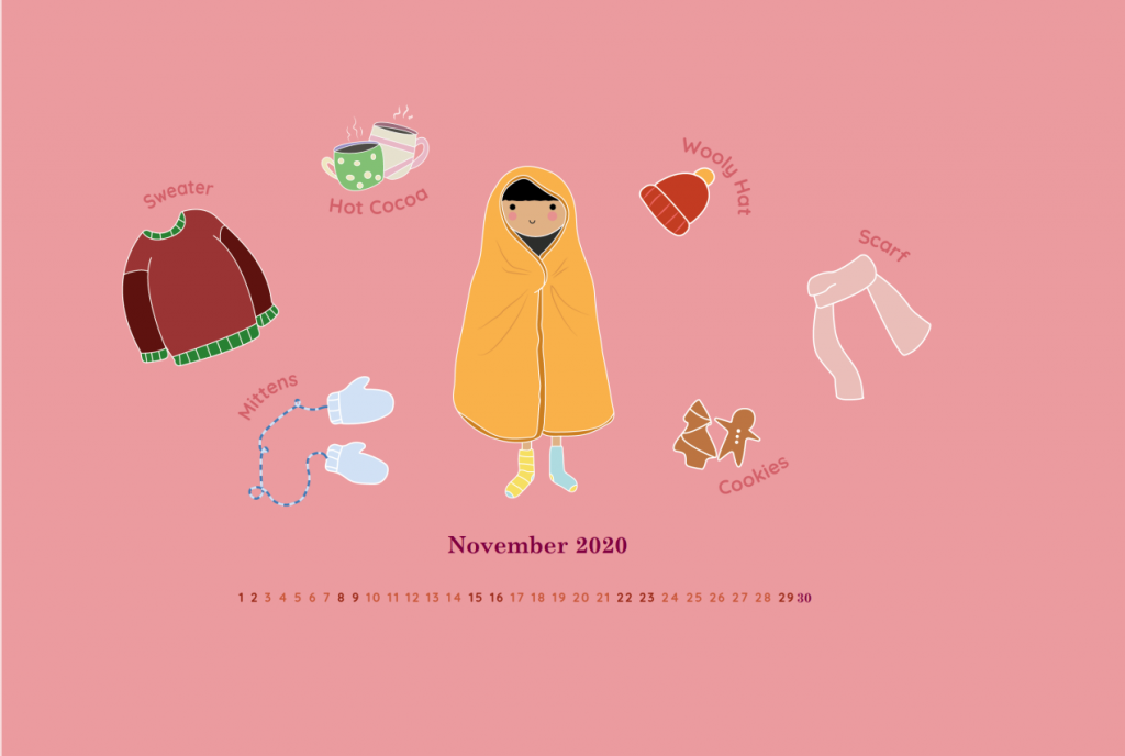 November 2020 HD Calendar Wallpaper