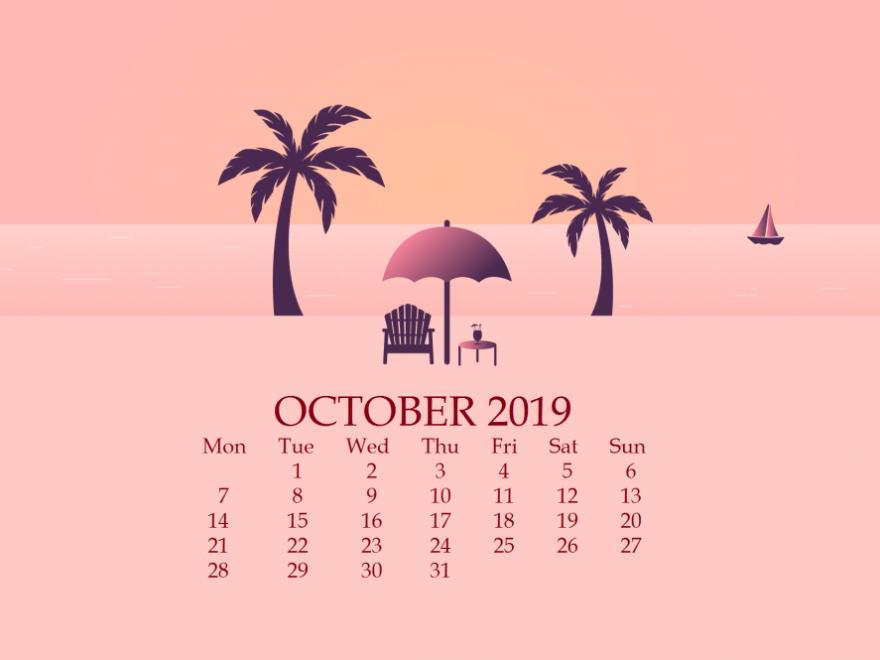 October 2019 Desktop Background Wallpaper