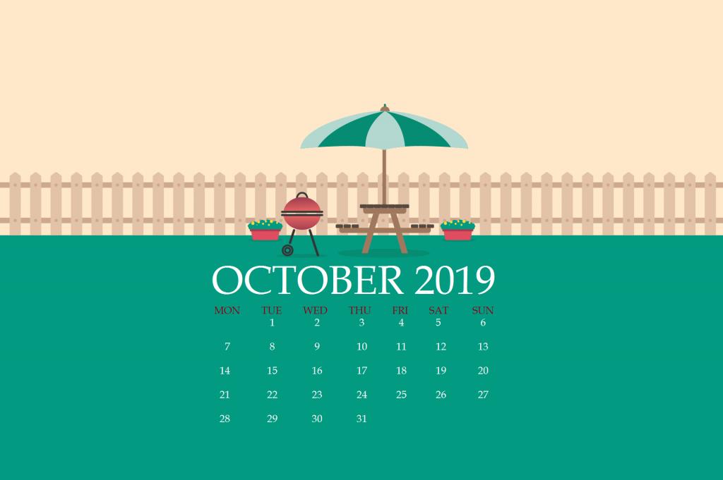 October 2019 Desktop Wallpaper