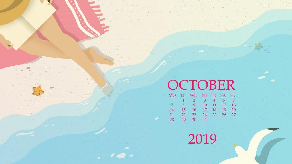 October 2019 Screensaver Background