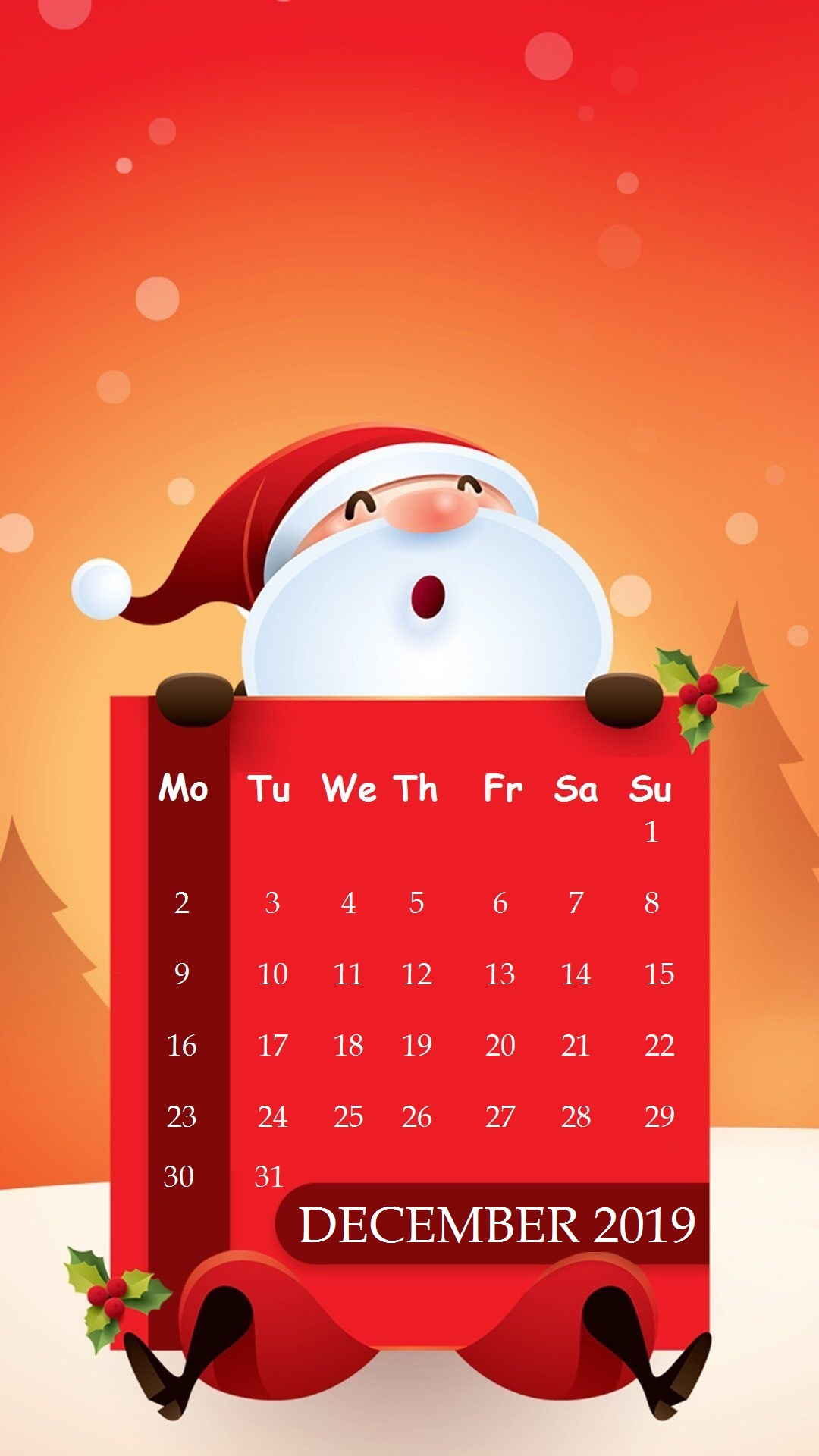 Santa Clues December 2019 iPhone Wallpaper