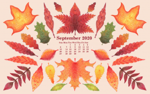 September 2020 Desktop Wallpaper Calendar