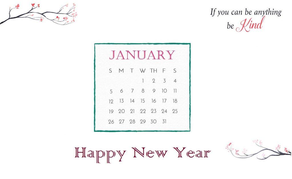Beautiful January 2020 Calendar