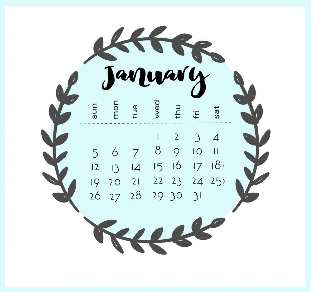 Best 2020 January Calendar