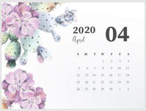 Best April 2020 Cute Calendar