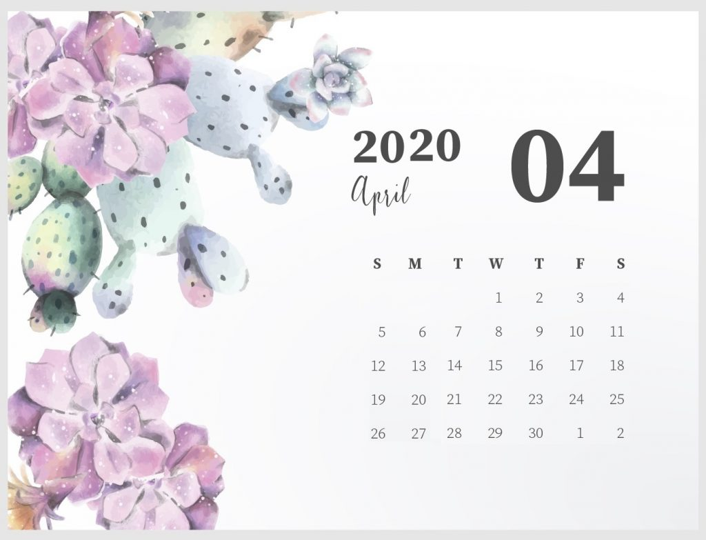 Best April 2020 Cute Calendar