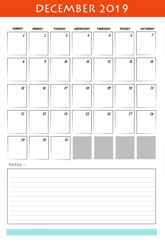 Best December 2019 Cute Calendar