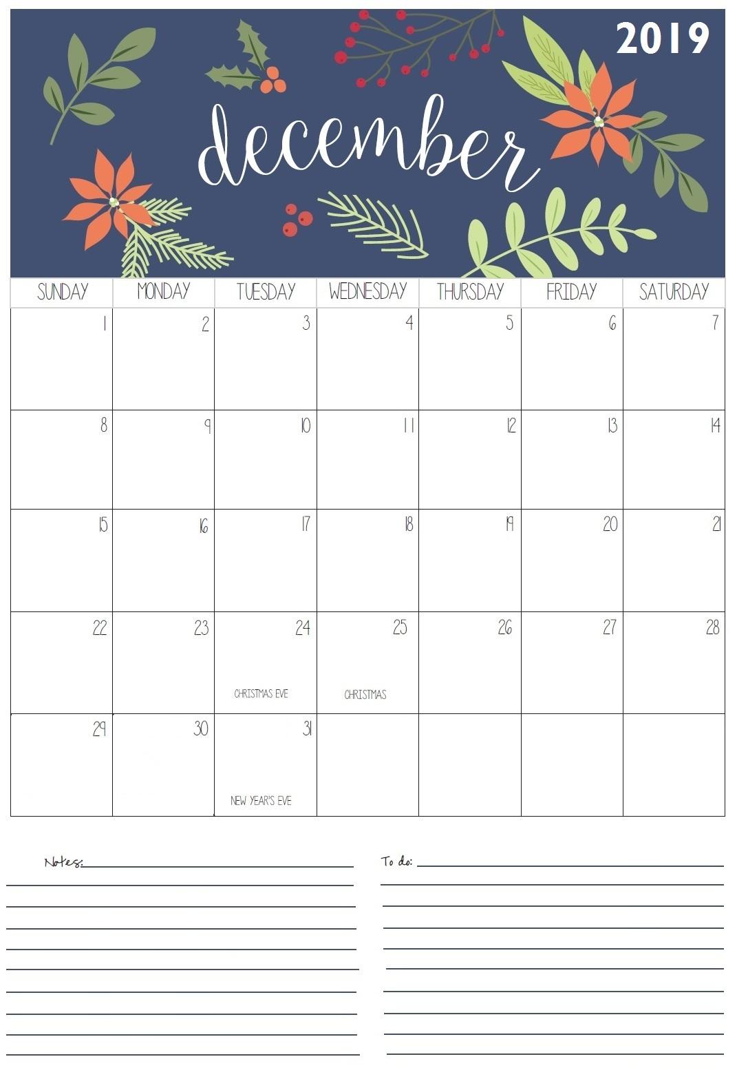 Best December 2019 Wall Calendar