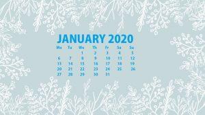 Best January 2020 Calendar Wallpaper