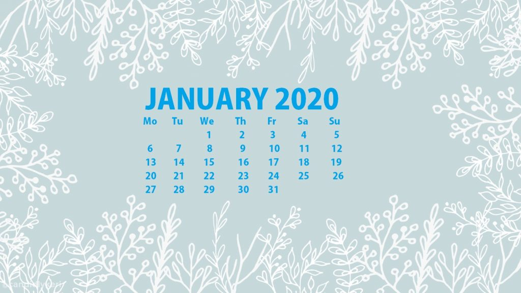 Best January 2020 Calendar Wallpaper