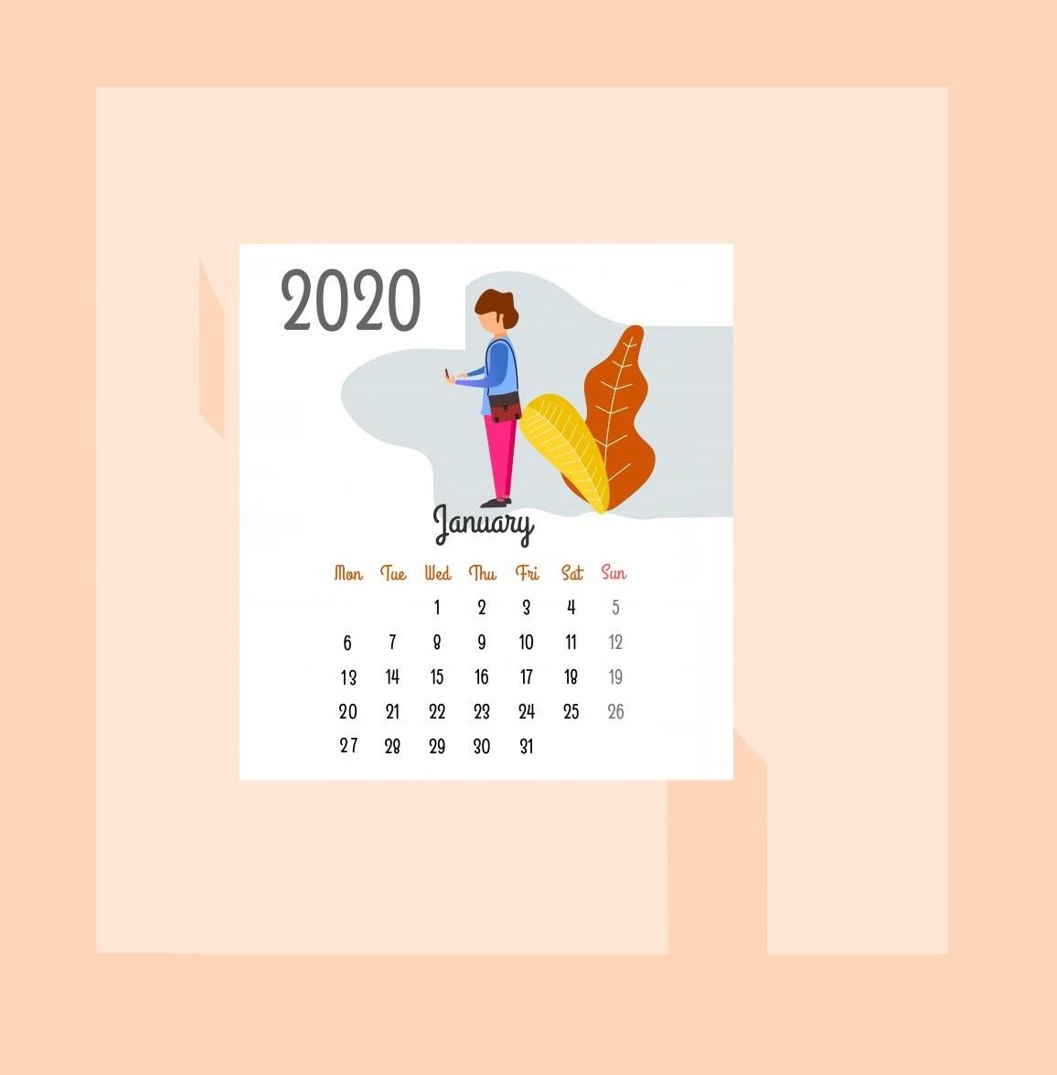 Best January 2020 Calendar