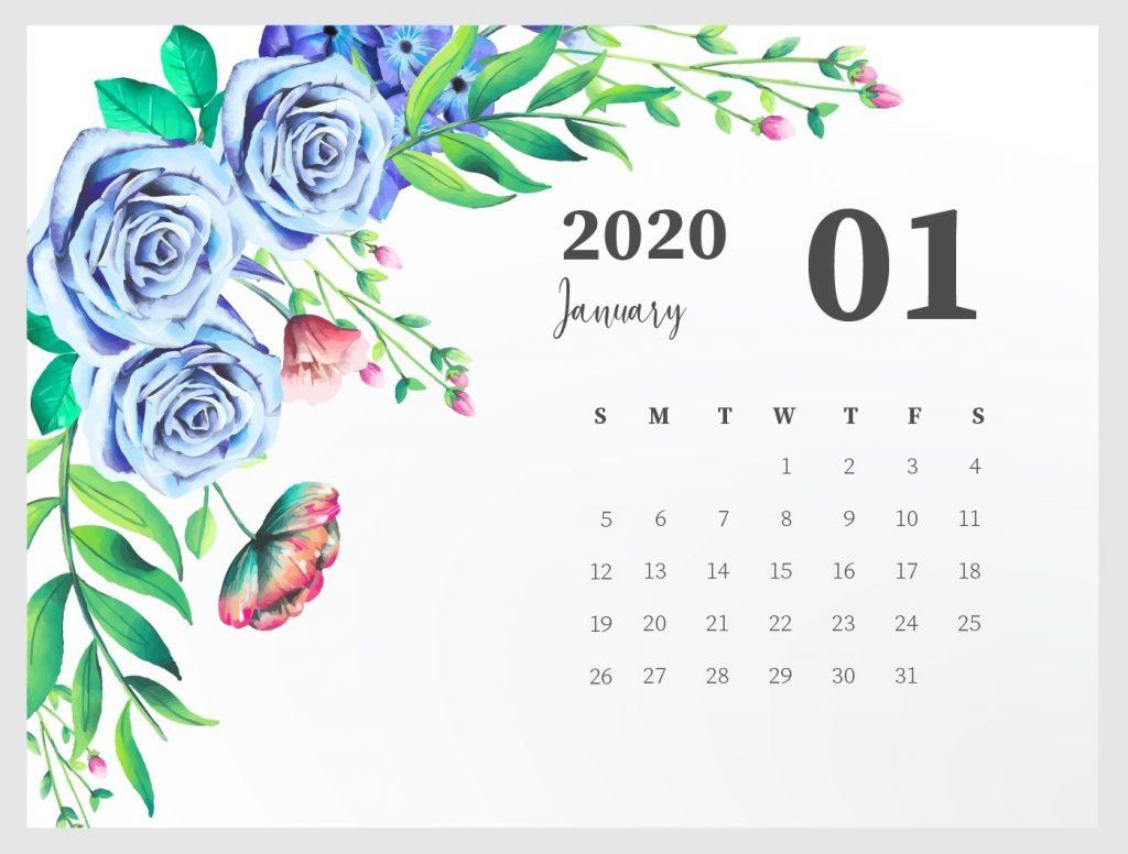 Best January 2020 Floral Calendar