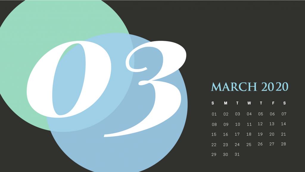 Best March 2020 Cute Calendar