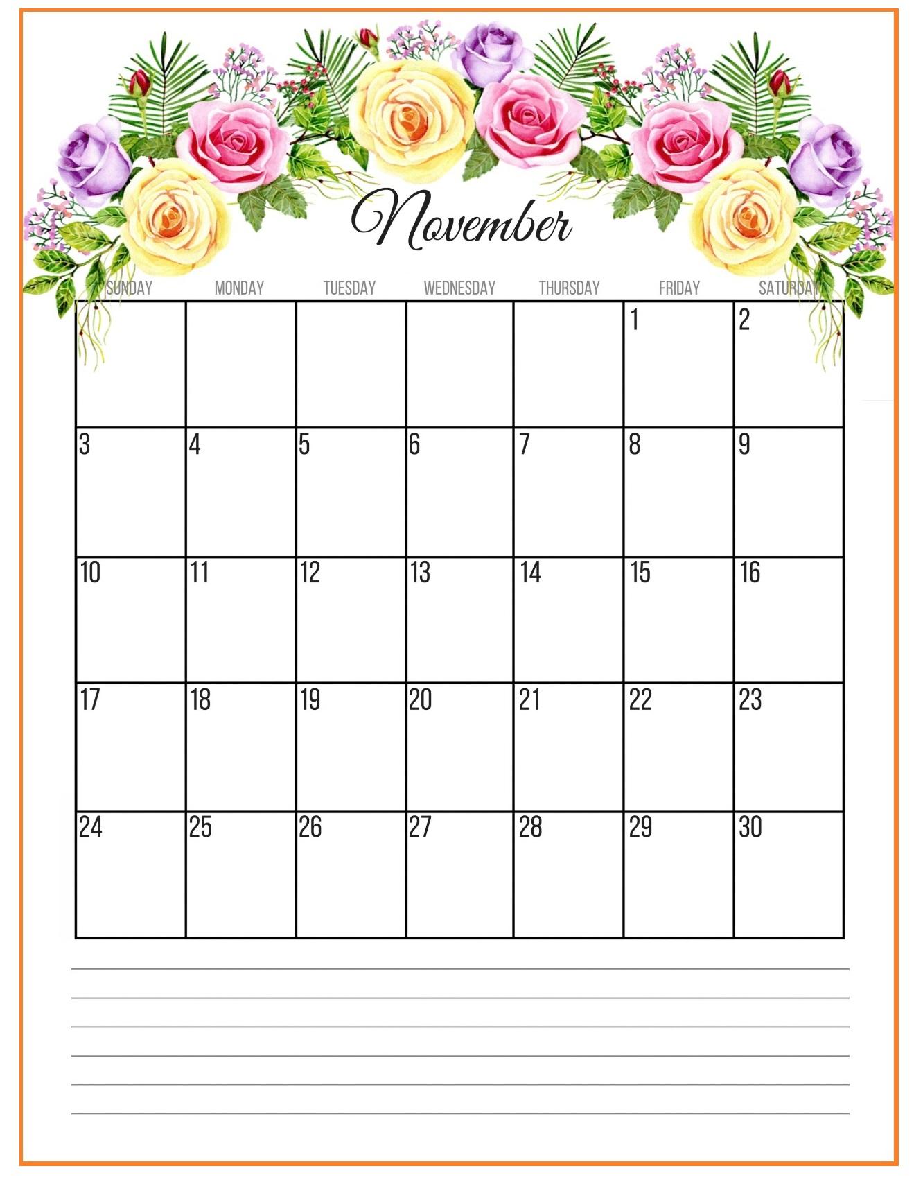 Best November 2019 Floral Calendar