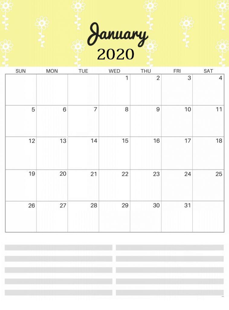 Bright Patterns January 2020 Wall Calendar
