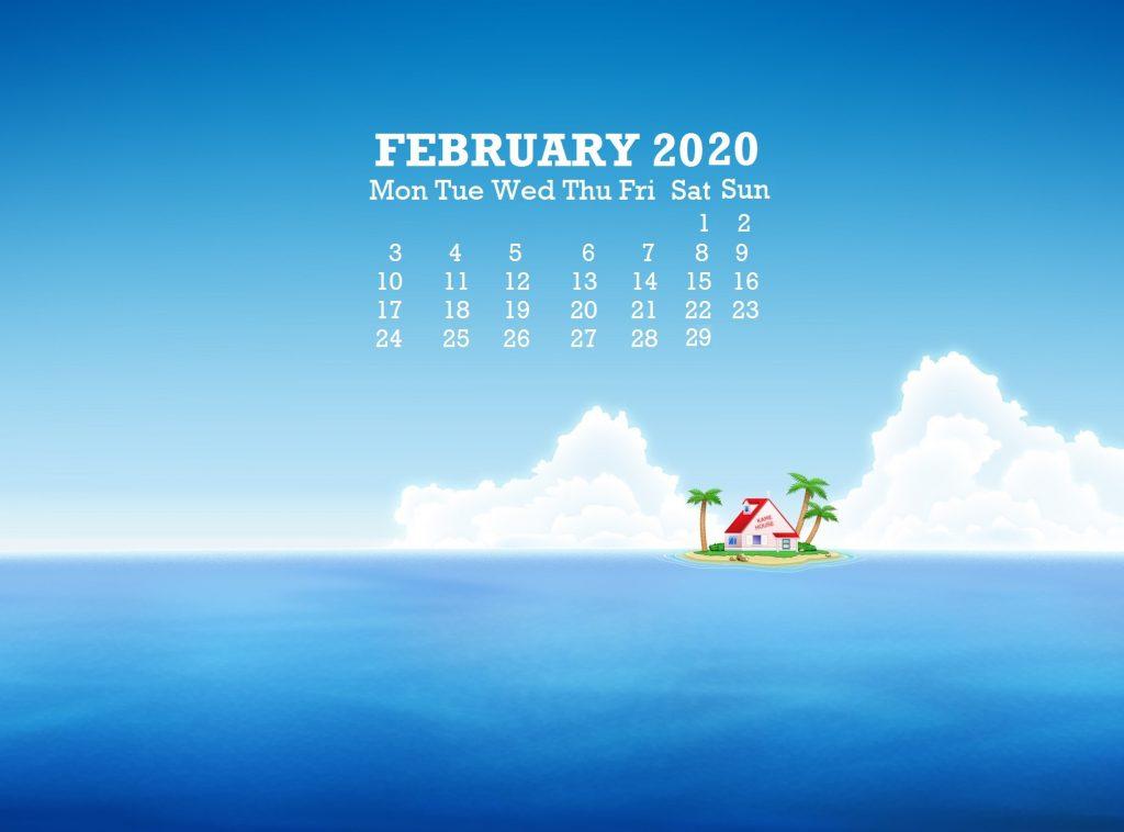 Cute February 2020 Desktop Calendar