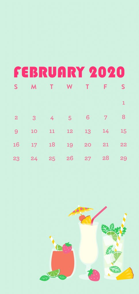 Cute February 2020 iPhone Wallpaper