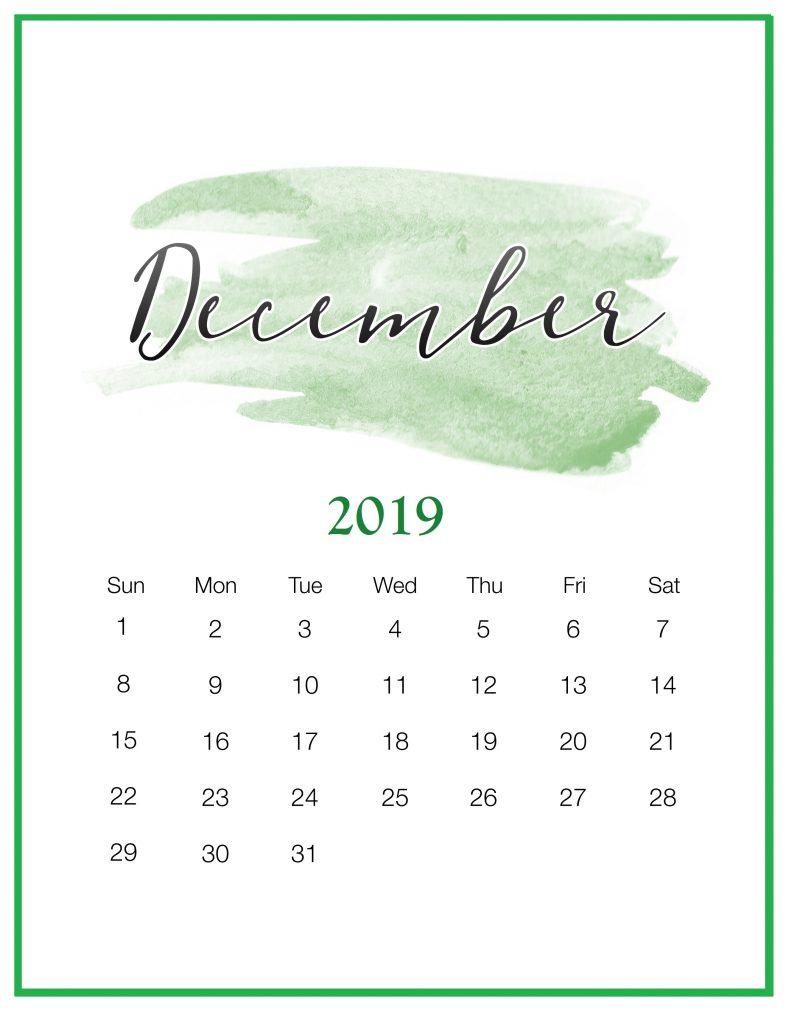 December 2019 Office Wall Calendar