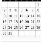 December 2019 Wall Calendar Template