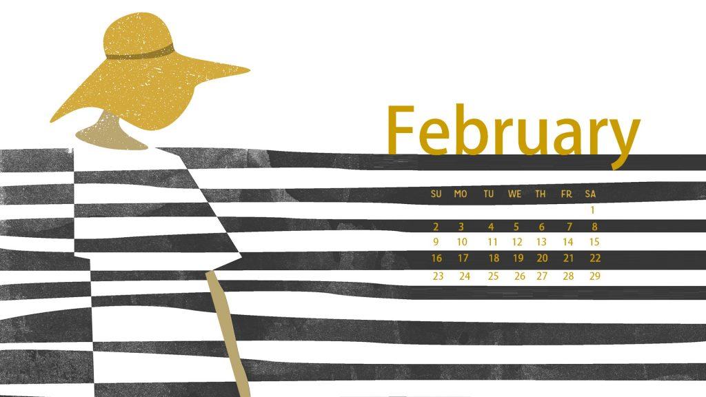 February 2020 Calendar For Desktop