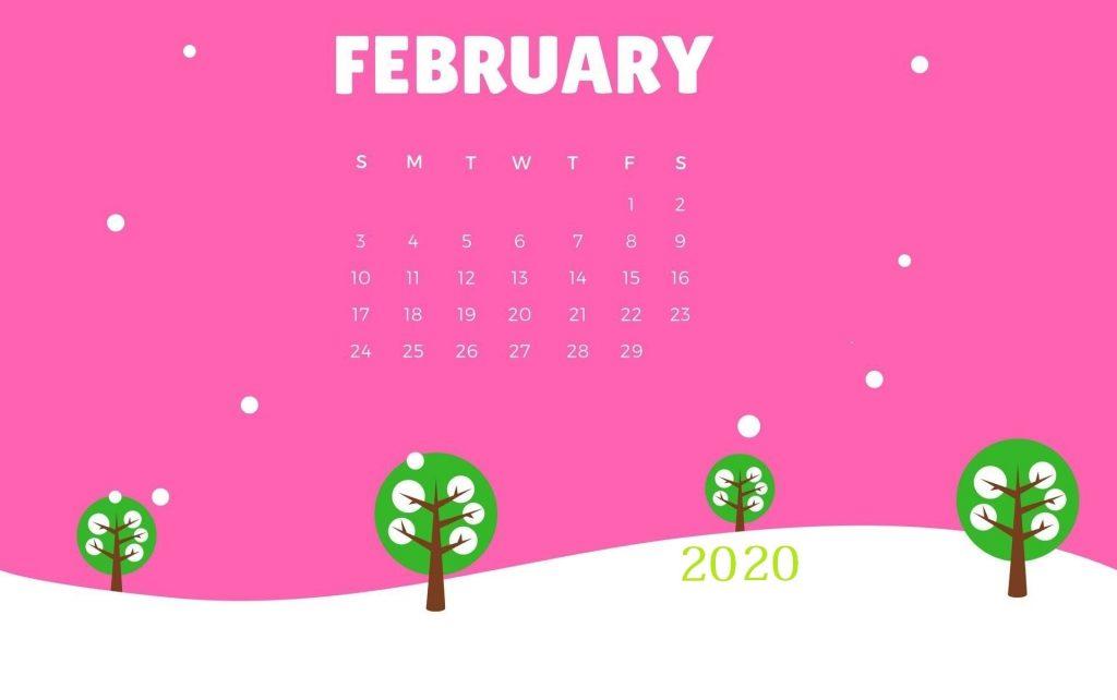 February 2020 Desktop Backgrounds