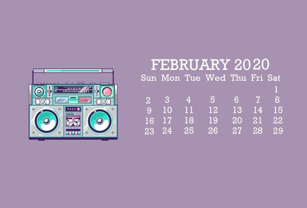 February 2020 Desktop Screensaver