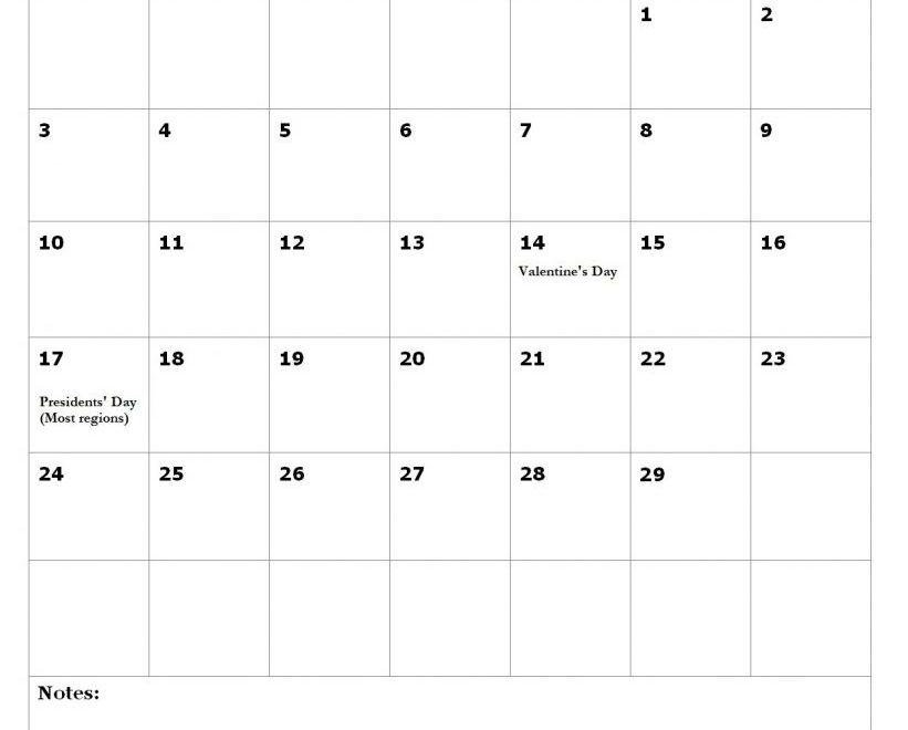 February 2020 Holidays United States