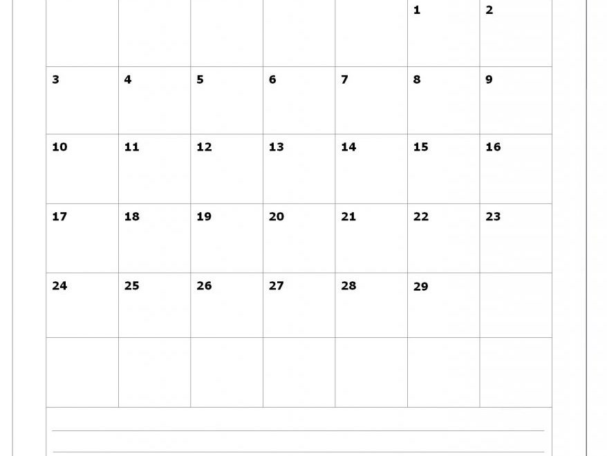 February 2020 Office Wall Calendar