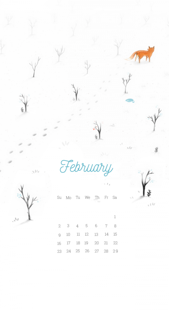 February 2020 iPhone Background Wallpaper