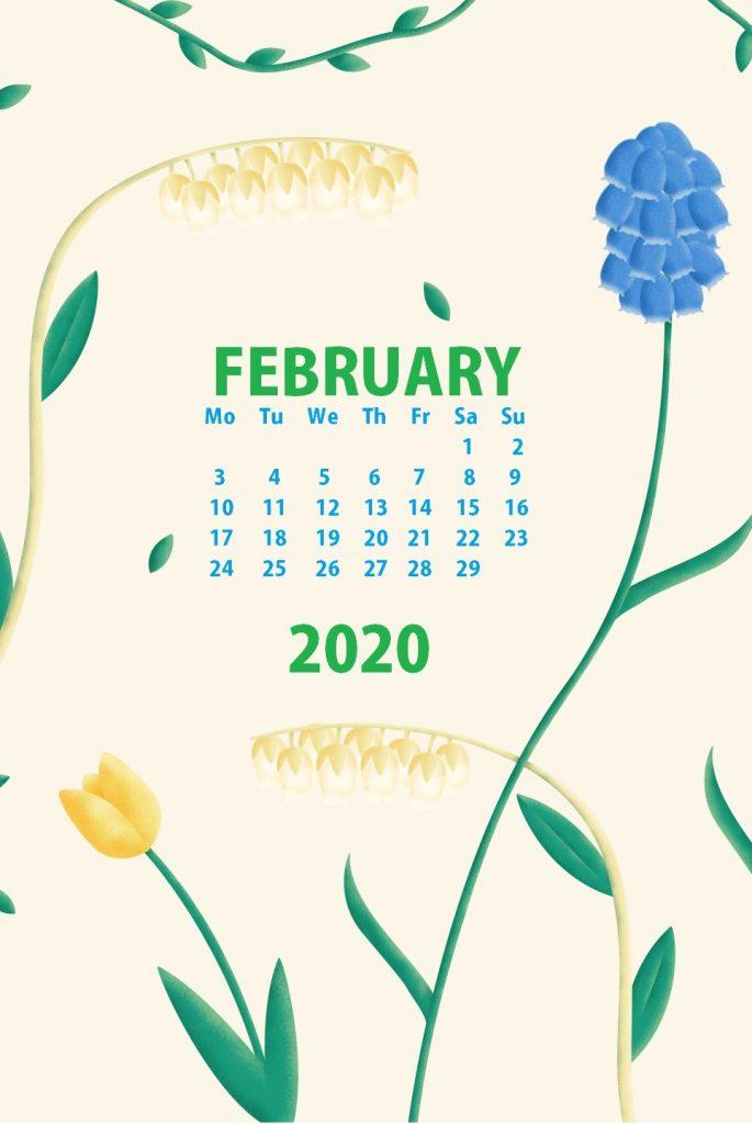February 2020 iPhone Calendar