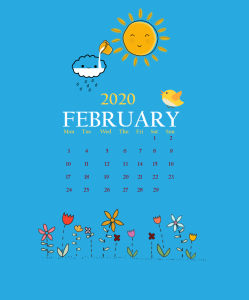 February 2020 iPhone Screensaver Wallpaper