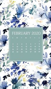 Floral February 2020 iPhone Wallpaper