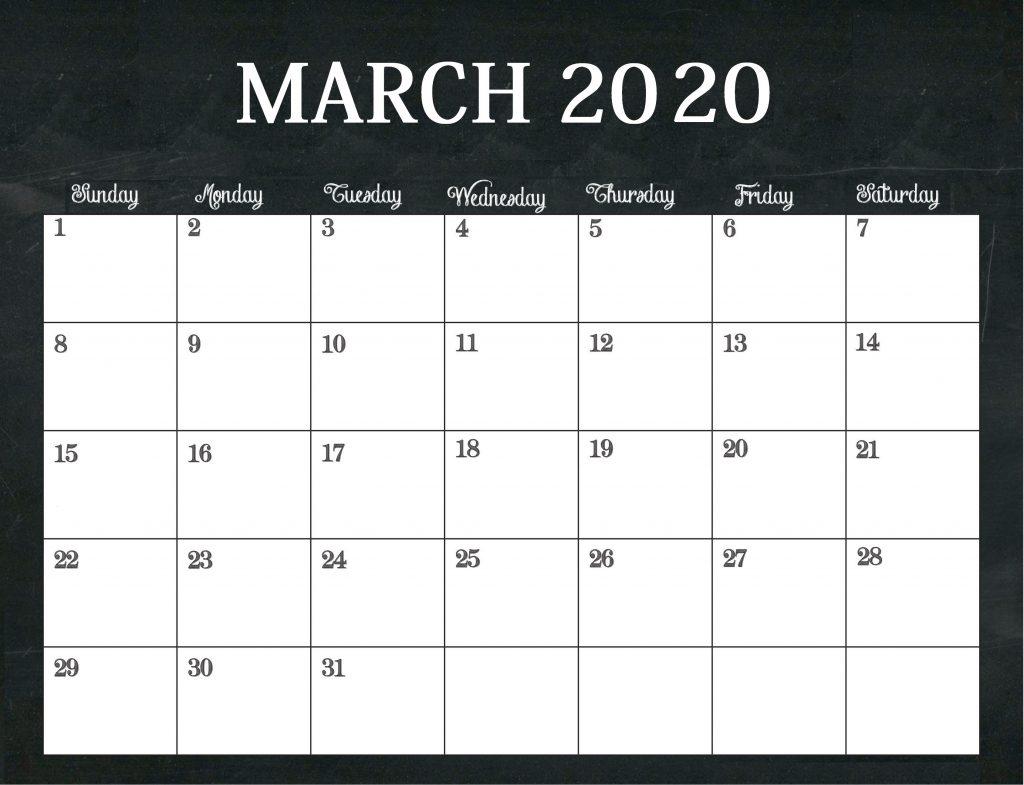 Free March 2020 Desk Calendar