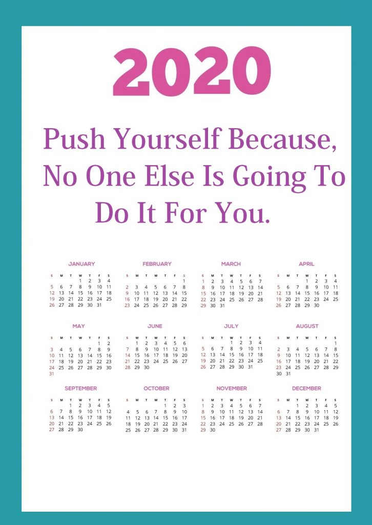 Inspirational 2020 Quotes Calendar