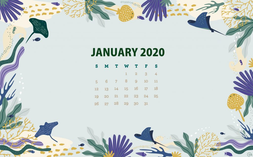 January 2020 Wallpaper Background