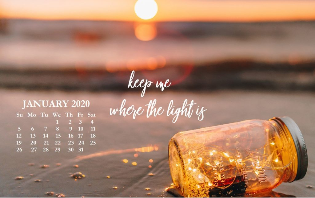 January 2020 Wallpaper Design